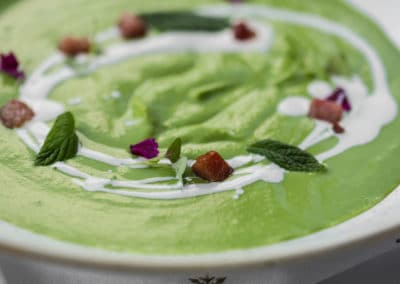 Pea Soup with Guanciale