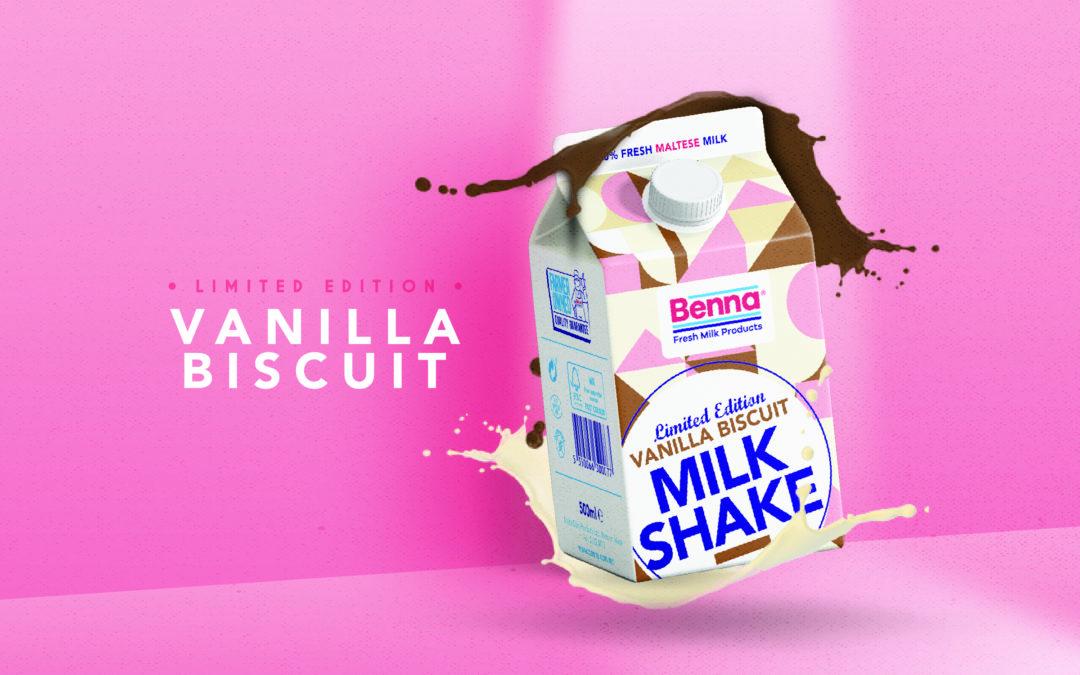 New Limited Edition Vanilla Biscuit Milkshake!