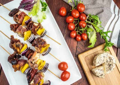 Parma Ham Wrapped Ġbejna Skewers